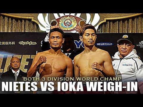 NIETES VS IOKA WEIGH-IN | WBO WORLD SUPER FLYWEIGHT CHAMPIONSHIP