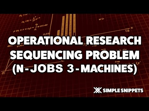 Sequencing Problem N jobs on 3 Machines