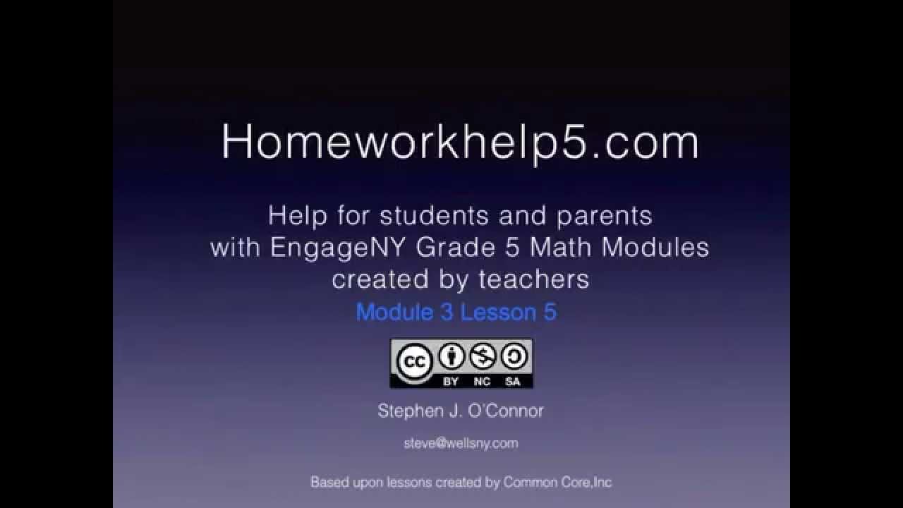 Grade 5 EngageNY Eureka Math Module 3 Lesson 5 - YouTube