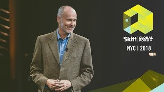 Gambar cover Airbnb Strategic Advisor for Hospitality and Leadership Chip Conley at Skift Global Forum 2018