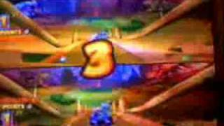 Jogando Crash Tag Team Racing ps2 (portugues) video 2