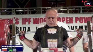 Jaroslaw Olech (Poland) at IPF Equipped Worlds, 895kg (367.5-217.5-310)@74kg