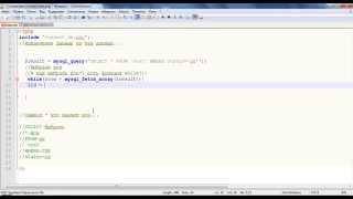 Извлечение данных из базы данных.PHP,MySQL--Урок-3