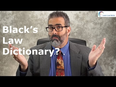Black's Law Dictionary from YouTube · Duration:  3 minutes 38 seconds