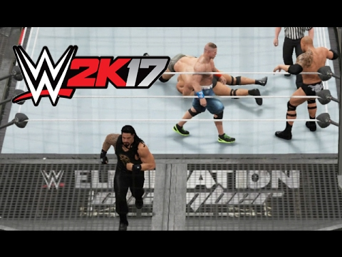 WWE 2K17 - Roman Doesn't Wanna Fight [6-Man Elimination Chamber] - PS4