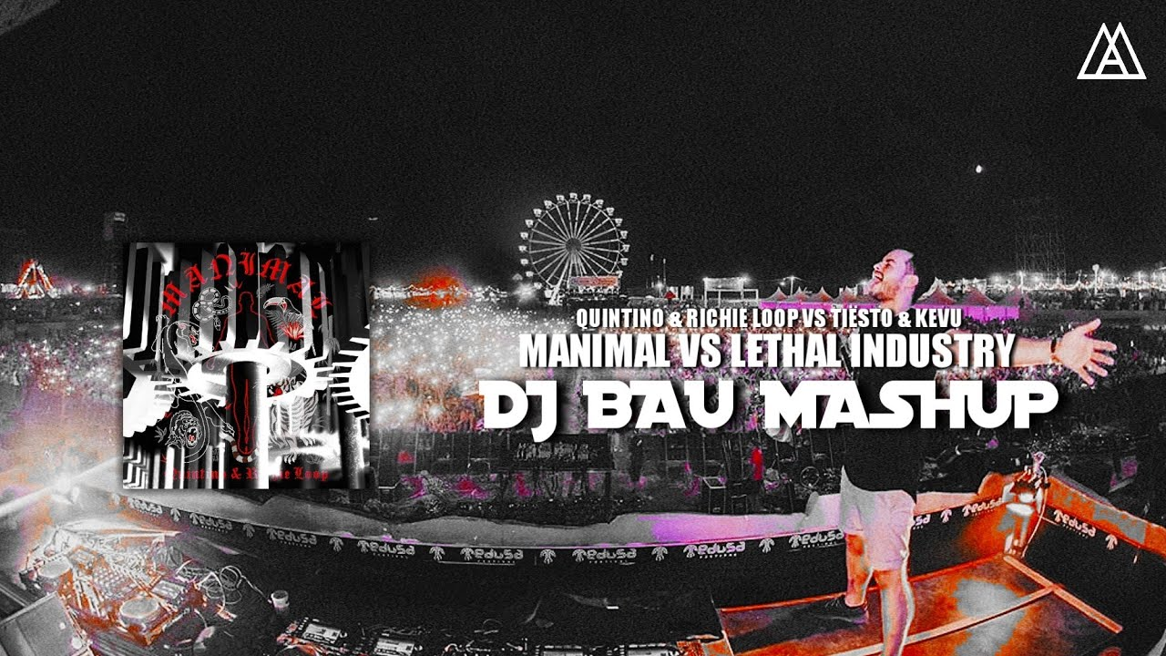 Quintino & Richie Loop vs. Tiësto & KEVU - Manimal vs. Lethal Industry (DJ Bau Mashup)