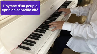 Edith Piaf , Yves Montand - Sous le ciel de Paris - Piano, avec paroles