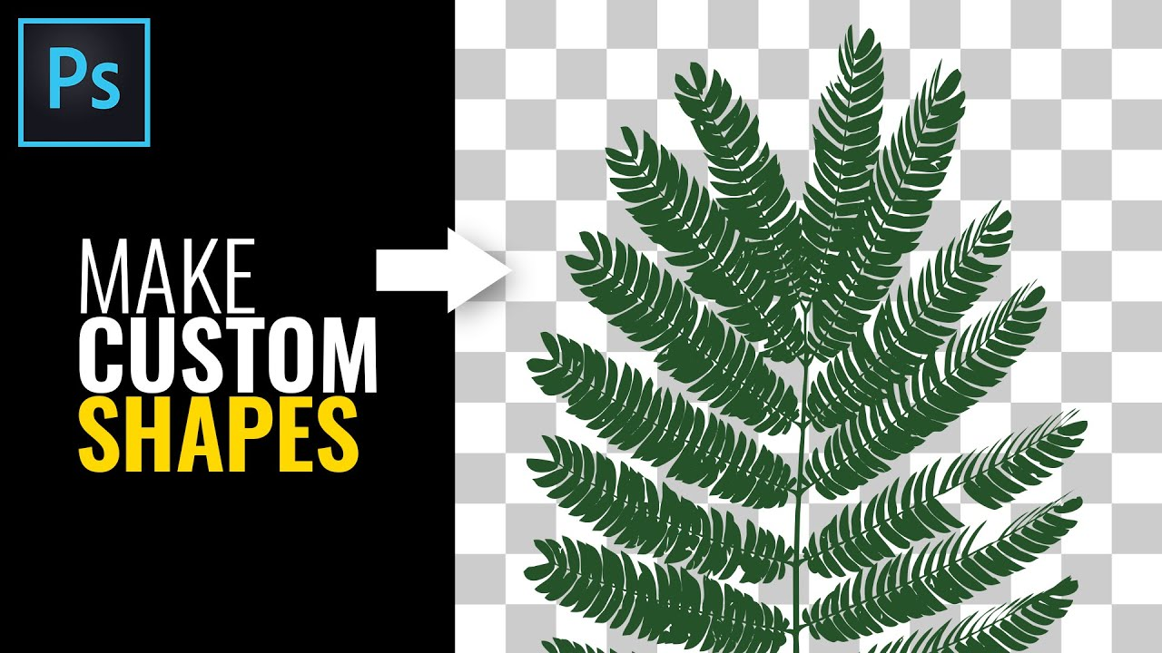 How To Make Custom Shapes in Photoshop   Photoshop Tutorial