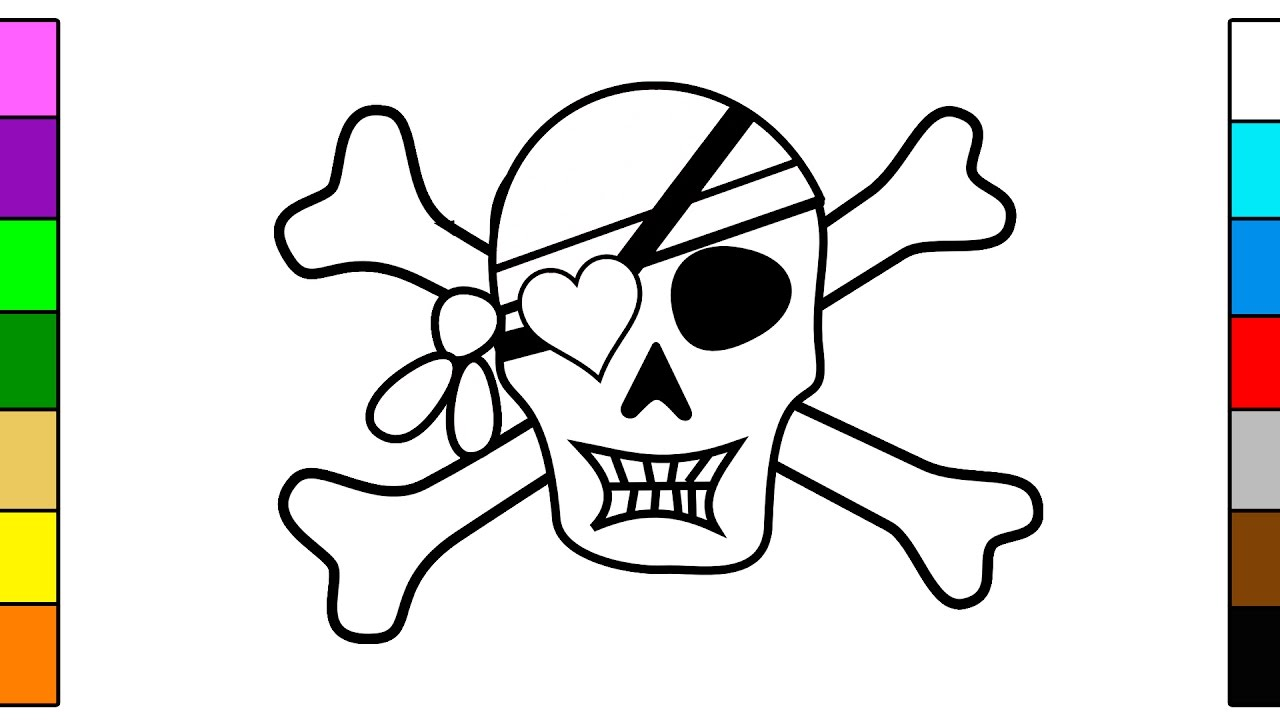 Pirate Skull & Skeleton Coloring Pages