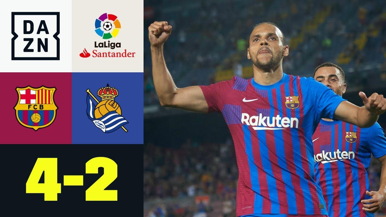 Spiel 1 nach Messi - Barca startet mit Torfestival: FC Barcelona - Real Sociedad 4:2   LaLiga   DAZN