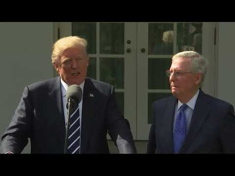 Donald Trump full news conference from Rose Garden with Mitch McConnell