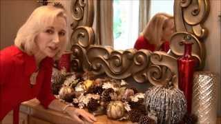How To Create A Fall Centerpiece For A Buffet Or Small Table That's Glamorous And Sophisticated