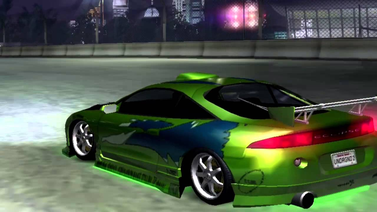 mitsubishi eclipse need for speed underground 2 vinyls the fast and the furious youtube. Black Bedroom Furniture Sets. Home Design Ideas