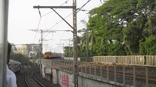 Train over Train : Retrofitted local goes over New Bombardier Rake of Mumbai!!