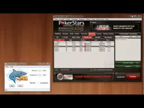 Sharkystrator - PokerStars Sng Registration Tools/Software Simple Run...
