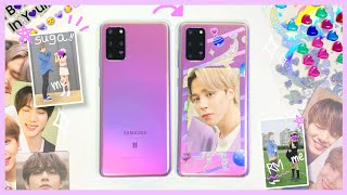 Take a Selfie with BTS..?! Unboxing Galaxy BTS S20+ Limited Edition and DIY Phone Case!