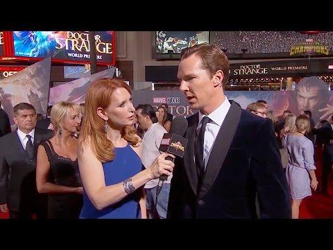 Benedict Cumberbatch & Tilda Swinton Explain Tutting/Fingertutting at Doctor Strange World Premiere