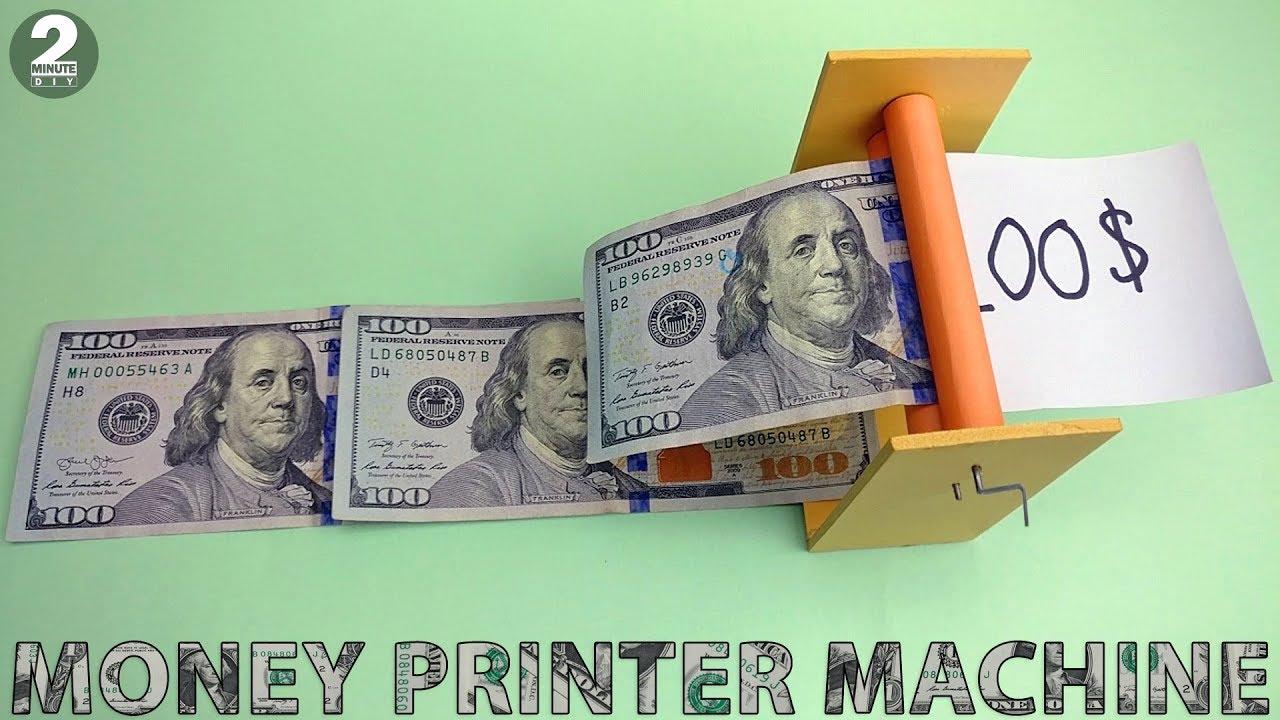 How to Make a Money Printer Machine - Magic Trick