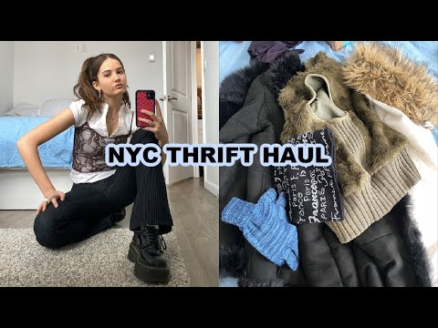 NYC Thrift Winter Haul (SO GOOD) + working out + vlog