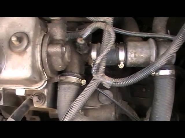 Замена датчика температуры охлаждающей жидкости (ДТОЖ) ВАЗ 2115