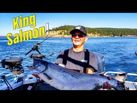 Hot Chinook Salmon Fishing In Washington's San Juan Islands!