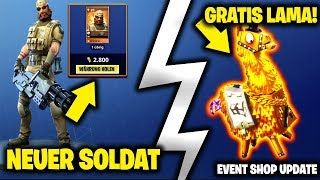 😍 NEW EVENT SHOP! 😍 FREE ALLERLEI LAMA | NEW SOLDIER! | FORTNITE