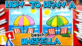 How To Draw A Beach Umbrella