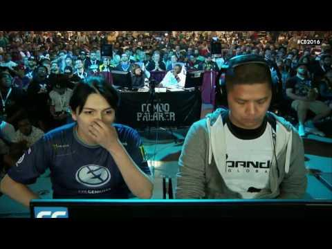 Street Fighter 5 Tournament - Combo Breaker 2016 Top 8 - FChamp (Dhalsim) vs Ricki Ortiz (Chun-Li)