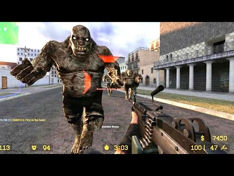 Counter Strike Source Zombie Horde mod Zombie Boss fight Online Gameplay on Lima map