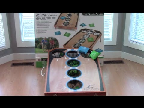 Unboxing Eastpoint Deluxe Bean Bag Toss Youtube
