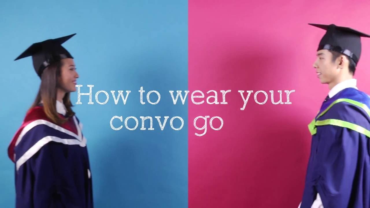 Guide to wearing your graduation gown - YouTube