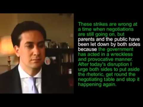 Ed Miliband These Strikes Are Wrong robot
