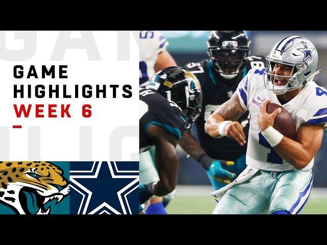 Jaguars vs. Cowboys Week 6 Highlights | NFL 2018