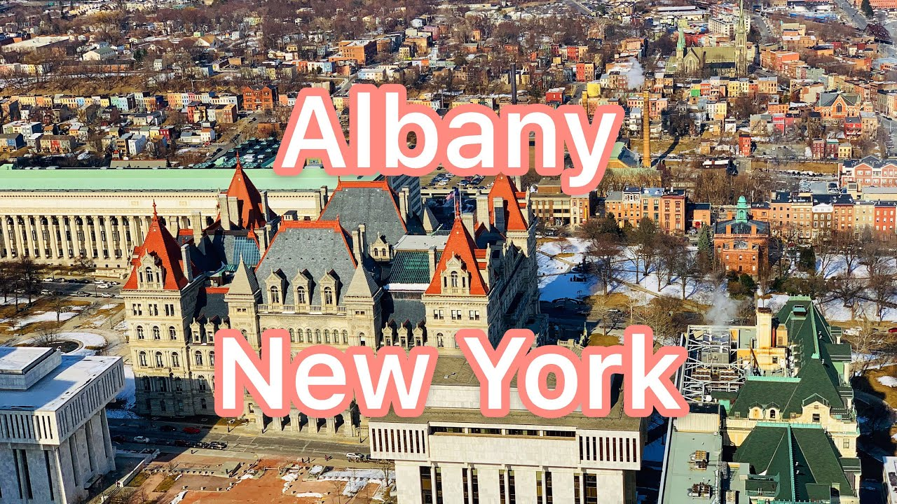 Driving Downtown,  Albany, NY - the Capital of New York State
