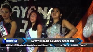 REALIZAN CORONACION NUEVA FLOR DE LA FERIA ALDEA LA LIBERTAD TAXISCO