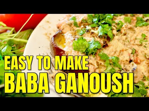 Eggplant Dip Baba Ganoush Recipe / How to Make Baba Ganoush
