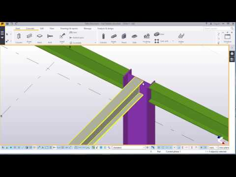 Modelling a simple fuel station structure  in TEKLA STRUCTURES 2016