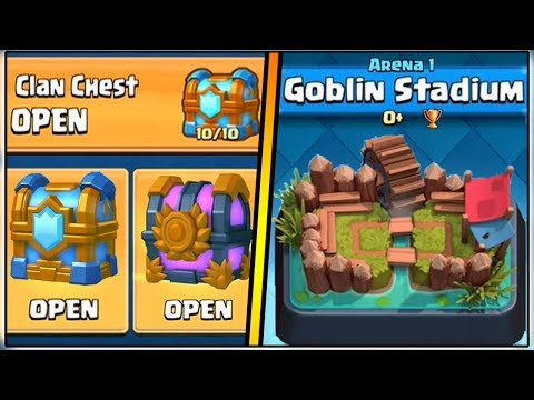 Thumbnail: WHAT HAPPENS IF YOU OPEN A TIER 10 CLAN CHEST IN ARENA 1? | CLASH ROYALE!