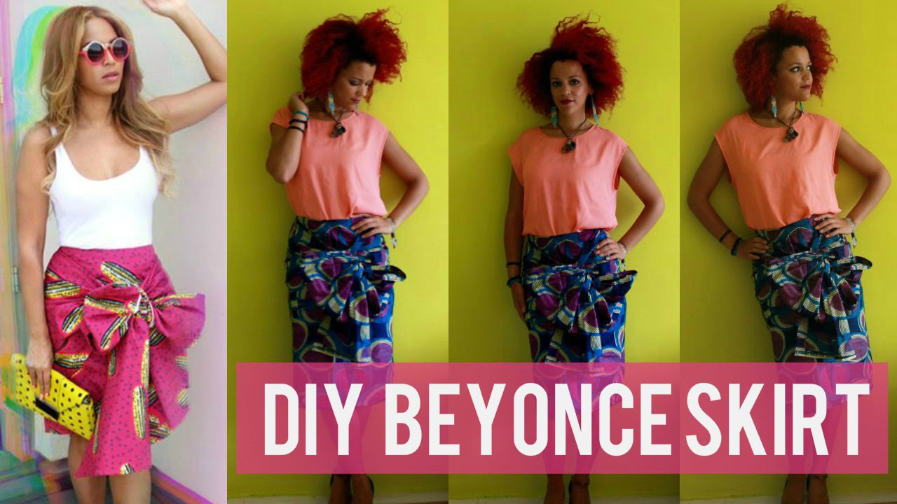 9935a9093 ✂ DIY BEYONCE AFRICAN PRINT PENCIL SKIRT & BOW + 10% DISCOUNT CODE | Stella  Jean Inspired Skirt - YouTube