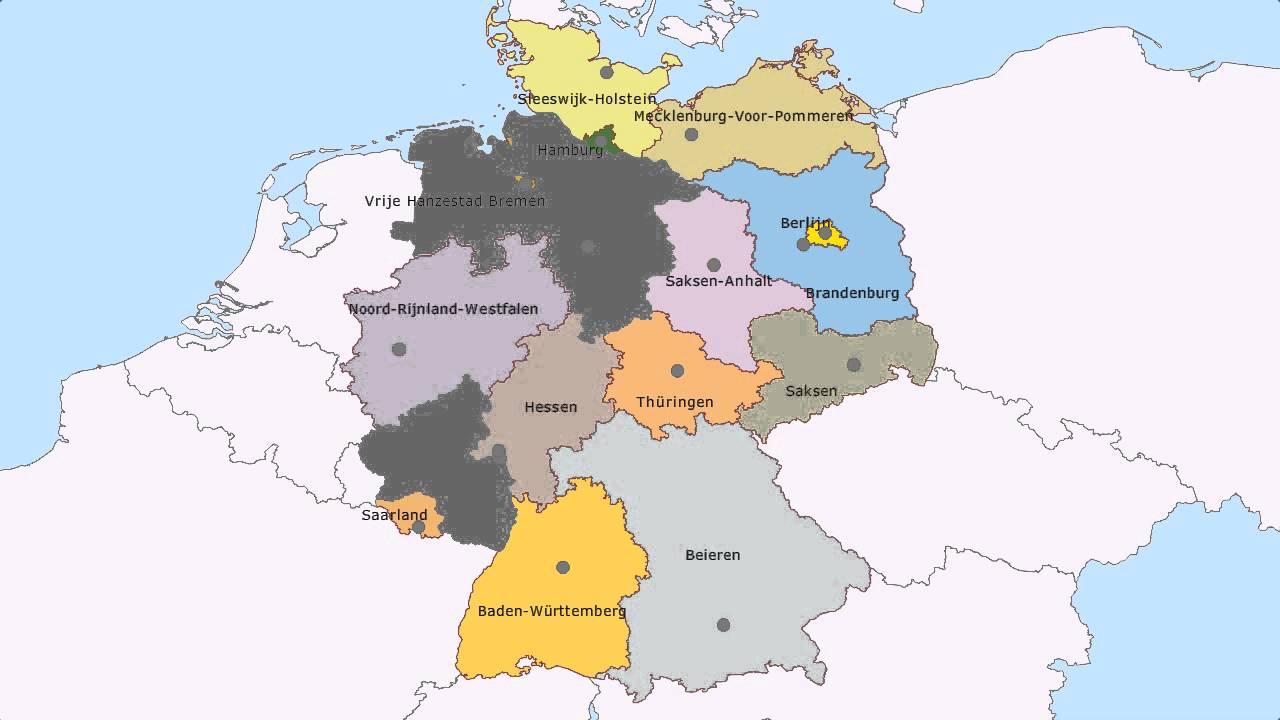 Topografie De Deelstaten Van Duitsland Www Topomania Net