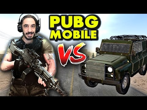 M249  VS  ZIRHLI ARAÇ - PUBG Mobile (One Man Squad)