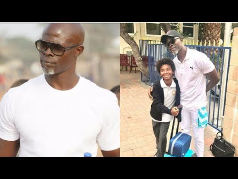 Djimon Hounsou shares a pic from his amazing trip abroad. Sad that he's so far from his little son