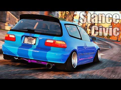 Grand Theft Auto V Mods - Customizing Honda Civic 5gen Stance and Racing - GTA 5 MOD - Part #01