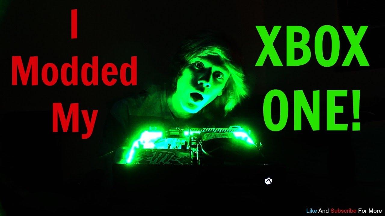 Xbox One Custom Console Modz!!! (LED Strip and 4 PC Fan install)