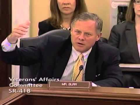 Senator Burr During Veterans Affairs Committee Hearing on May 09, 2013