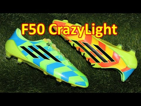 Adidas F50 adiZero CrazyLight Neon Green/Blue - Review + On Feet