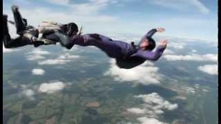 Skydiving AFF 1 gone bad: student loses both instructors, flips upside down and spins out of control
