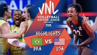 Brazil vs. USA - Highlights Gold | Women's VNL 2021