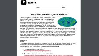 Cosmic Microwave Background Radiation Student Support