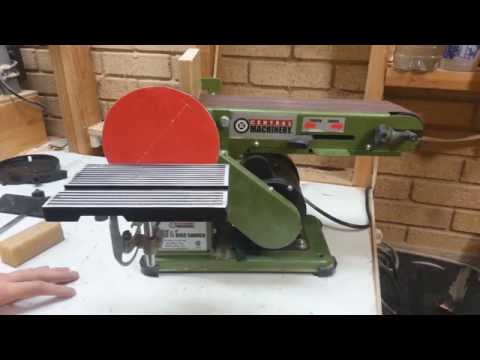 Harbor Freight Belt Disc Sander Central Machinery Youtube